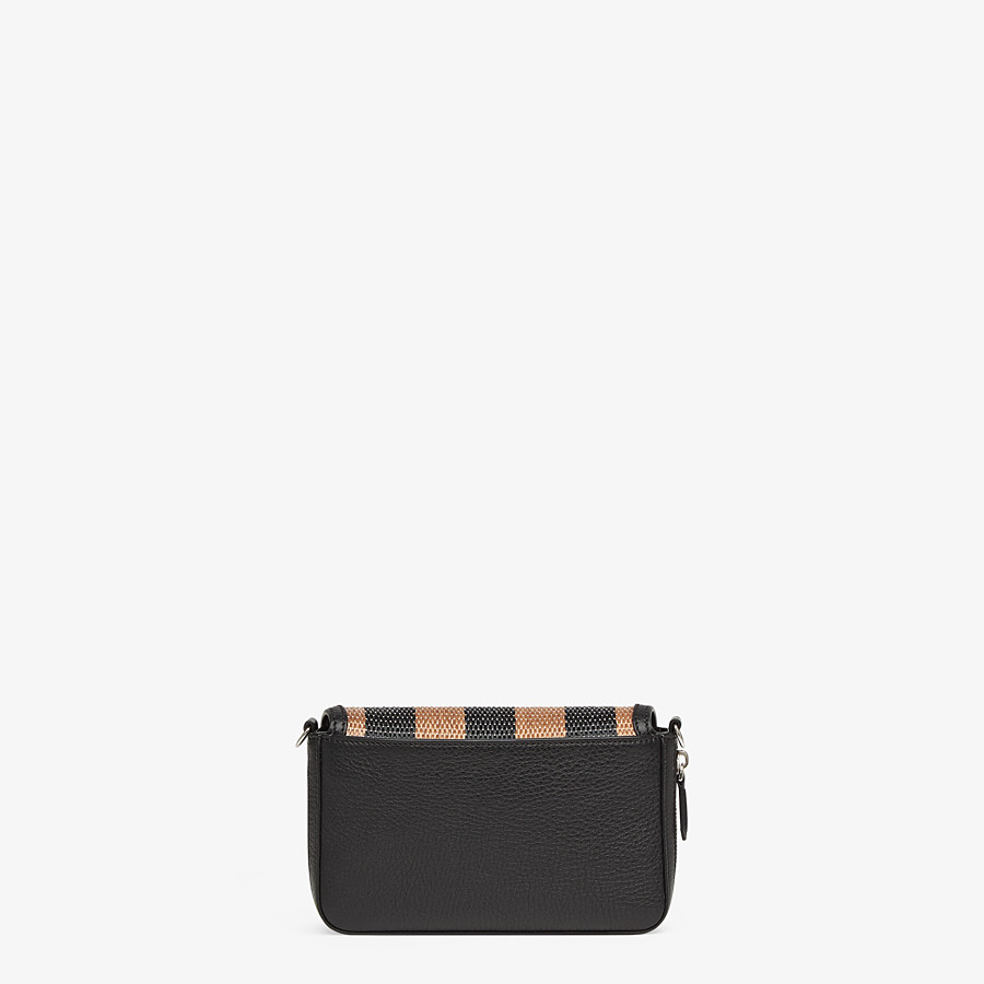 FENDI FLAP BAG - Brown raffia bag - view 4 detail