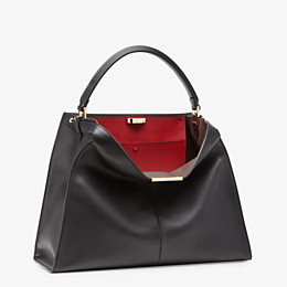 FENDI PEEKABOO X-LITE LARGE - Black leather bag - view 4 thumbnail