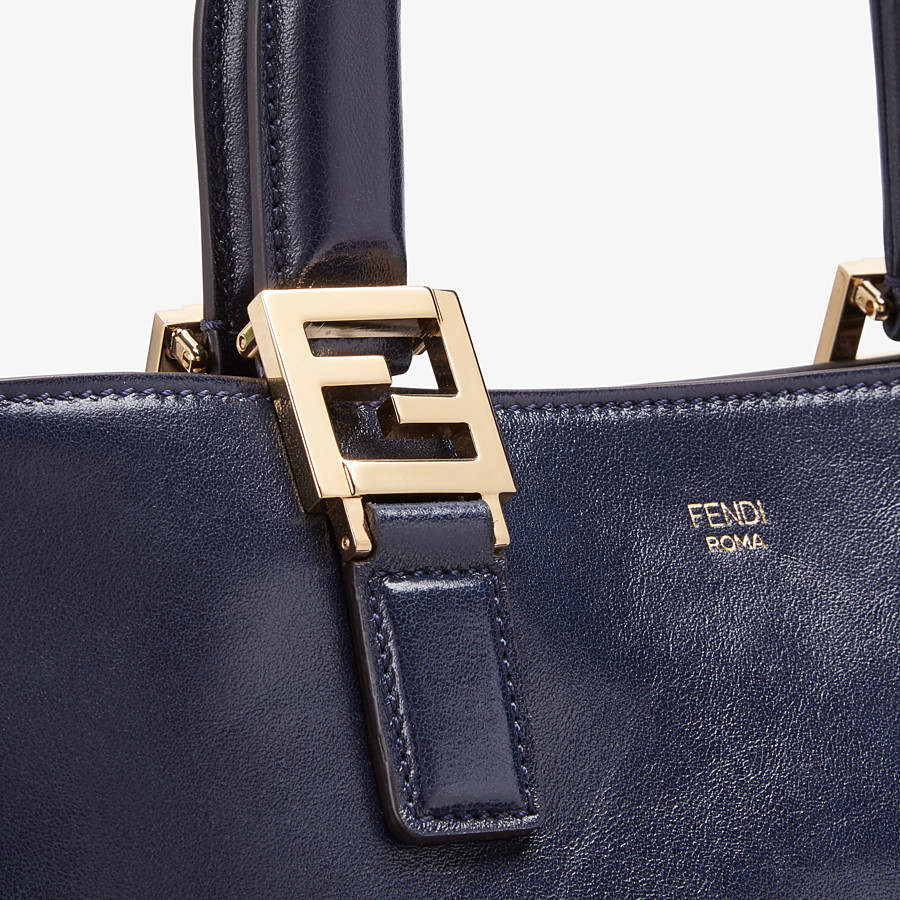 FENDI FF TOTE SMALL - Blue leather bag - view 6 detail