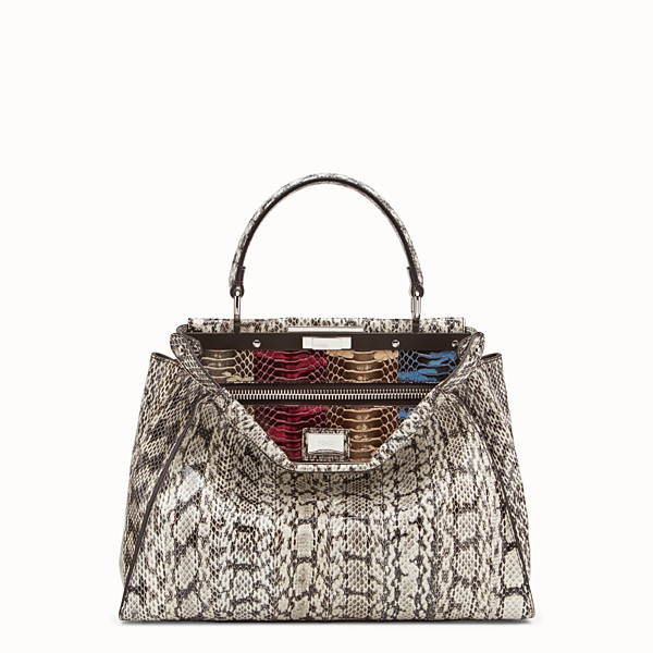 FENDI PEEKABOO REGULAR - Multicolour python bag with exotic details - view 1 small thumbnail