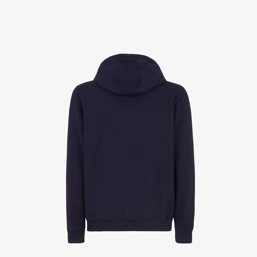 FENDI SWEATSHIRT - Blue wool and cotton Sweatshirt - view 2 detail