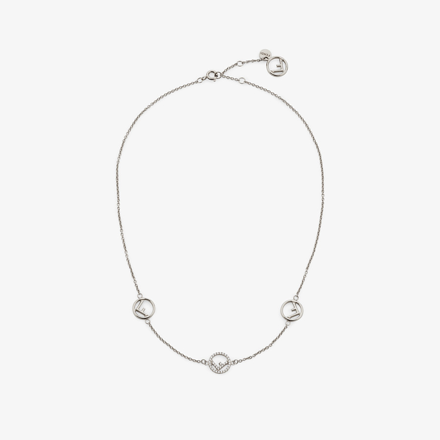 FENDI F IS FENDI NECKLACE - Palladium-colored necklace - view 1 detail