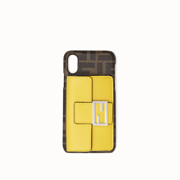 FENDI iPHONE X CASE - Brown cover - view 1 small thumbnail