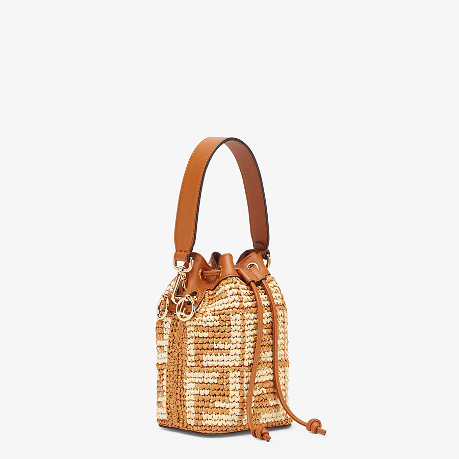 FENDI MON TRESOR - Brown raffia mini-bag - view 3 detail