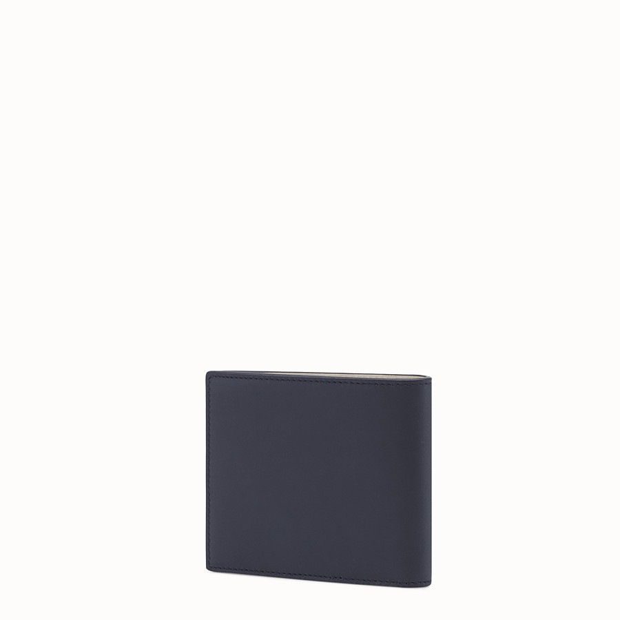 FENDI WALLET - Blue leather bi-fold - view 2 detail