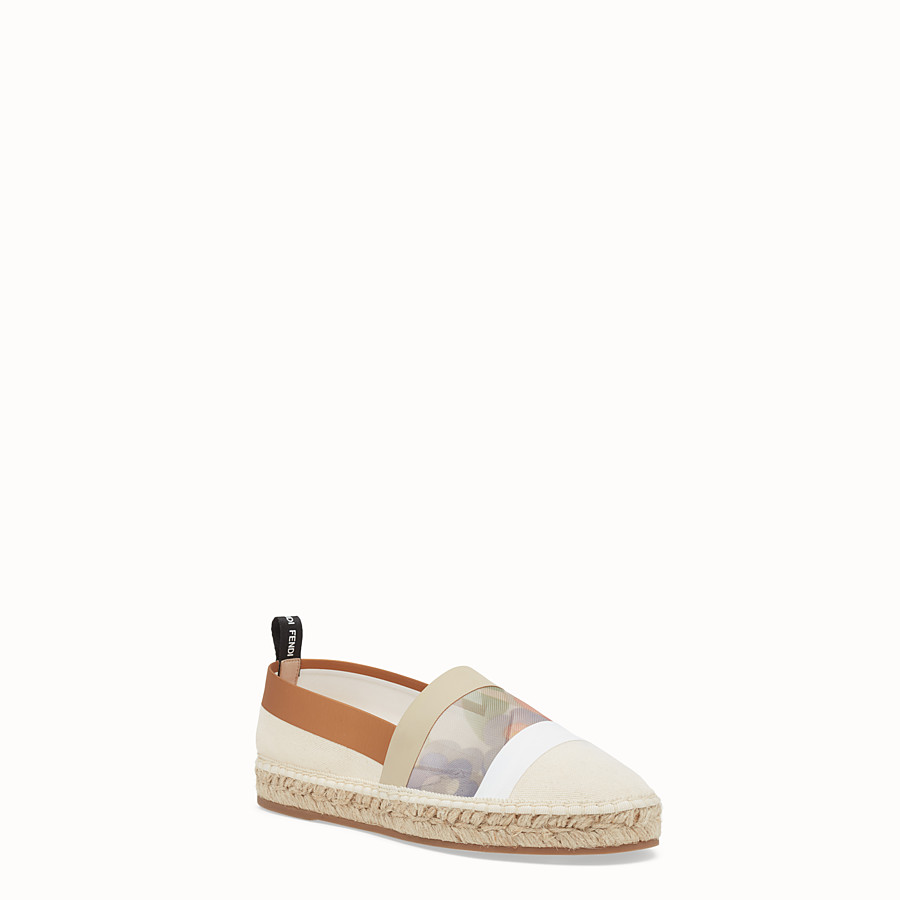 FENDI ESPADRILLES - White canvas espadrilles - view 2 detail