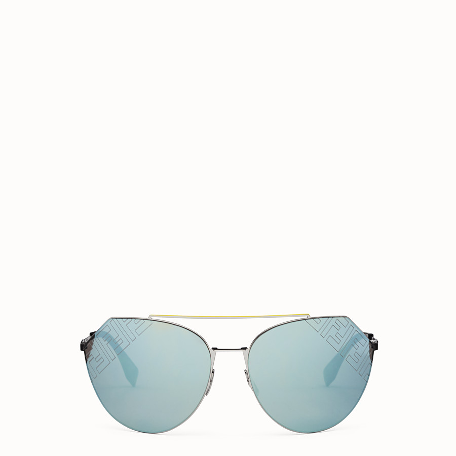 FENDI EYELINE 2.0 - Black and ruthenium sunglasses - view 1 detail