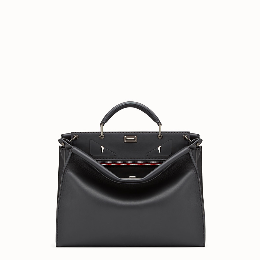 FENDI PEEKABOO FIT - Smooth black leather bag - view 1 detail