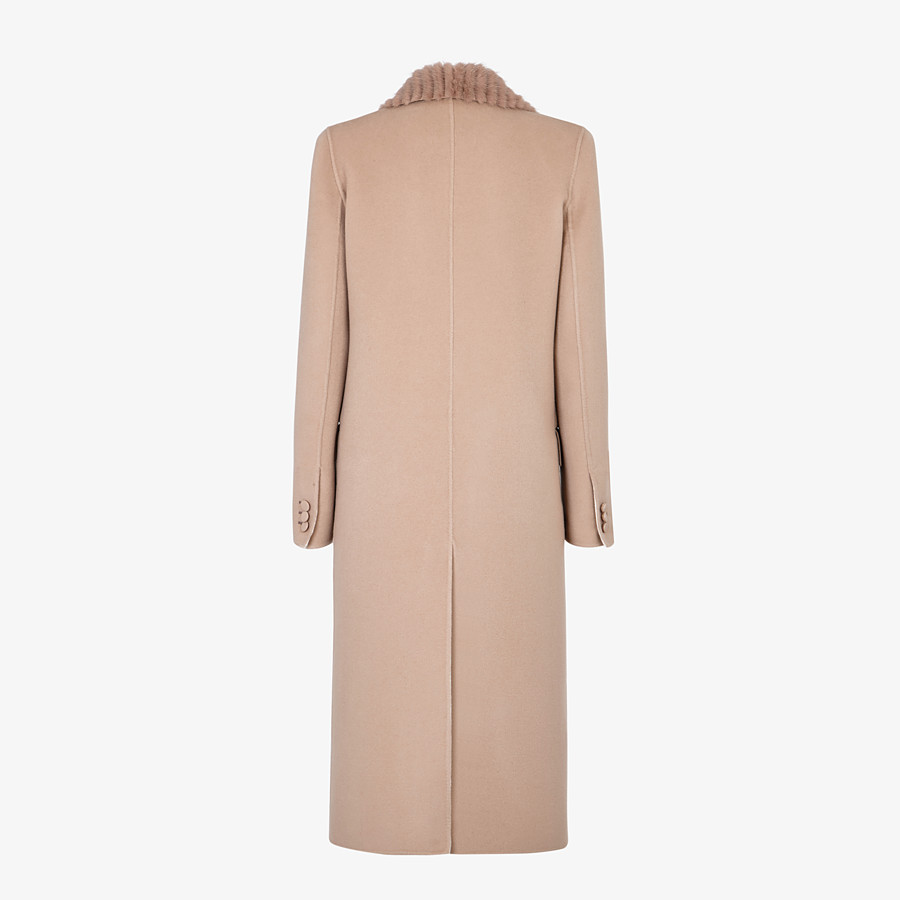 FENDI OVERCOAT - Beige cashmere coat - view 2 detail