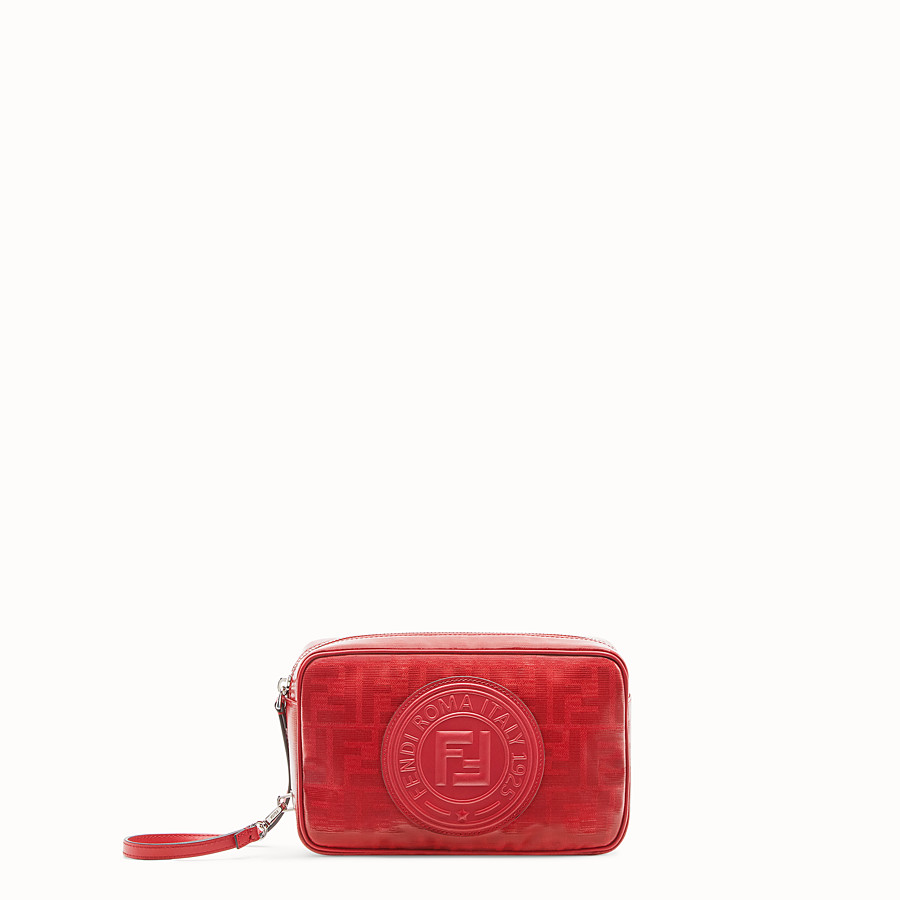 FENDI CAMERA CASE - Red fabric bag - view 1 detail