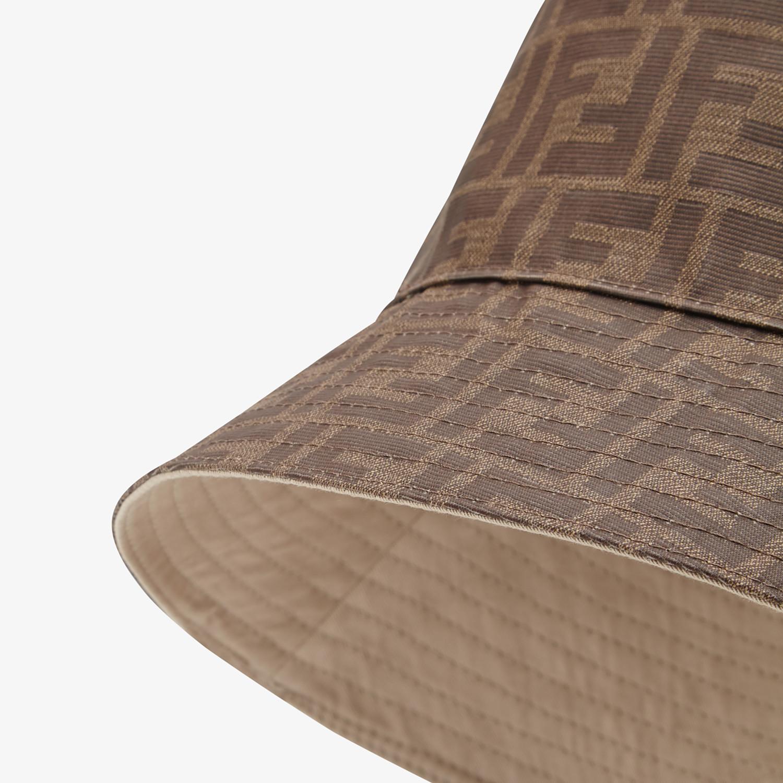 FENDI HAT - Brown tech fabric hat - view 2 detail