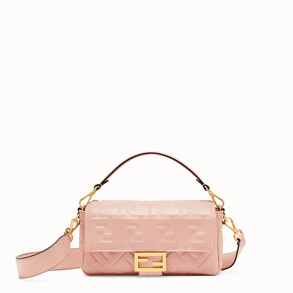 FENDI BAGUETTE - Pink nappa leather bag - view 1 small thumbnail