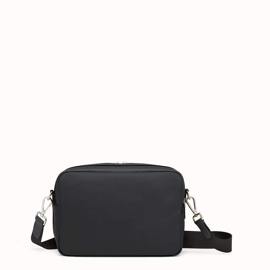 FENDI MESSENGER - Black nylon and leather bag - view 3 detail