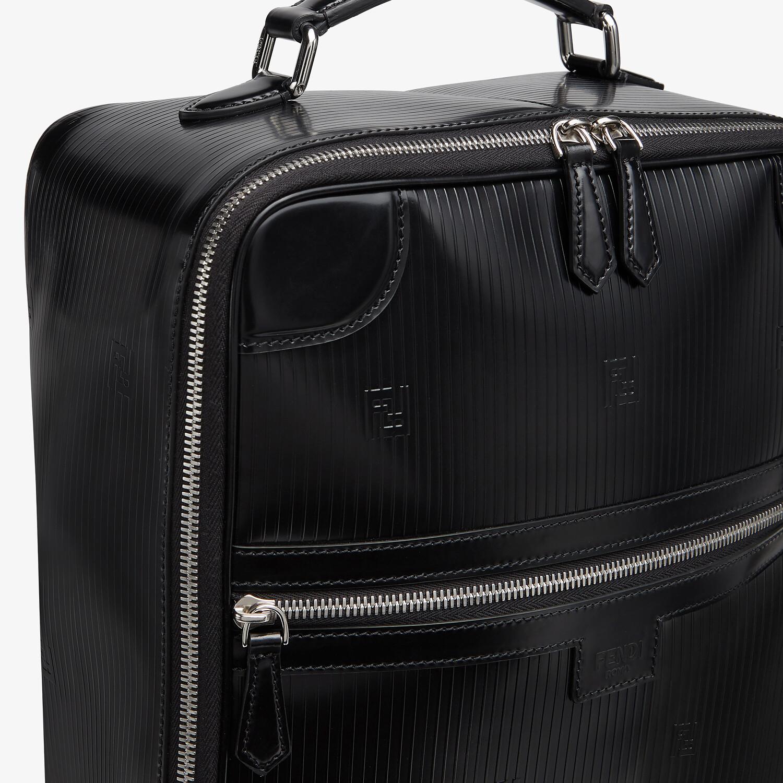 FENDI TRAVEL BACKPACK - Black leather backpack - view 5 detail