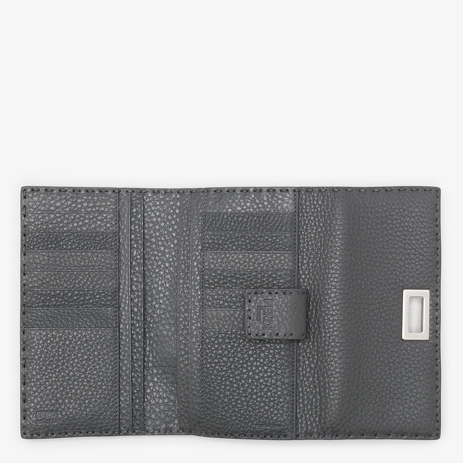 FENDI CONTINENTAL - Grey leather wallet - view 5 detail