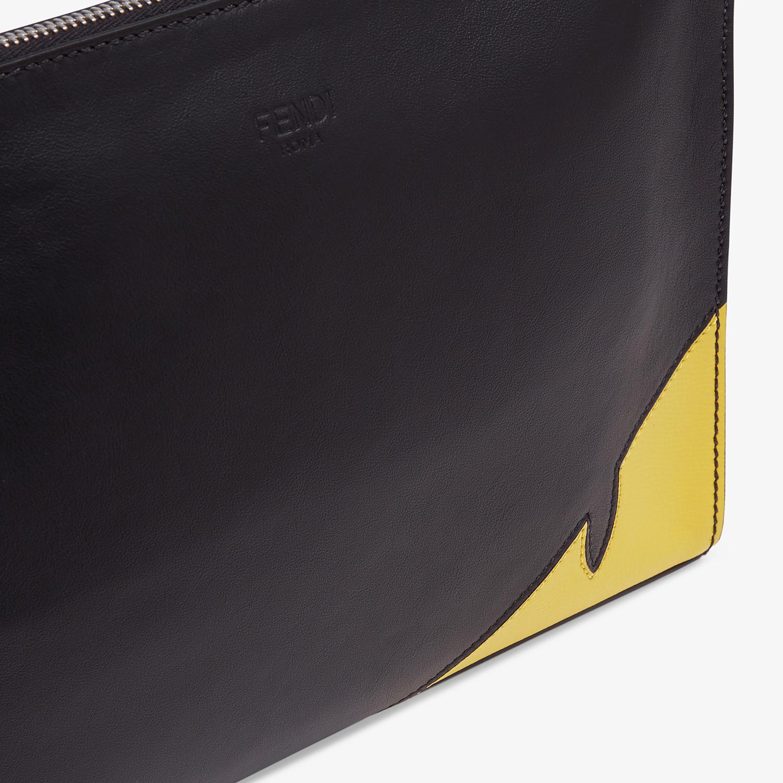 FENDI CLUTCH - Black calf leather pochette - view 5 detail