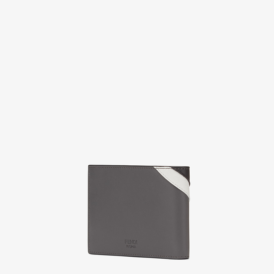 FENDI WALLET - Horizontal wallet in grey leather with insert - view 2 detail