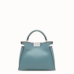 FENDI PEEKABOO ICONIC ESSENTIALLY - Light blue leather bag - view 4 thumbnail