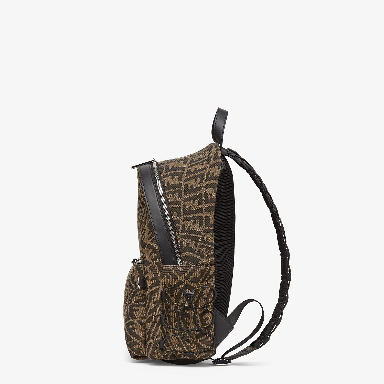 FENDI BACKPACK - Backpack in brown FF Vertigo fabric - view 2 detail