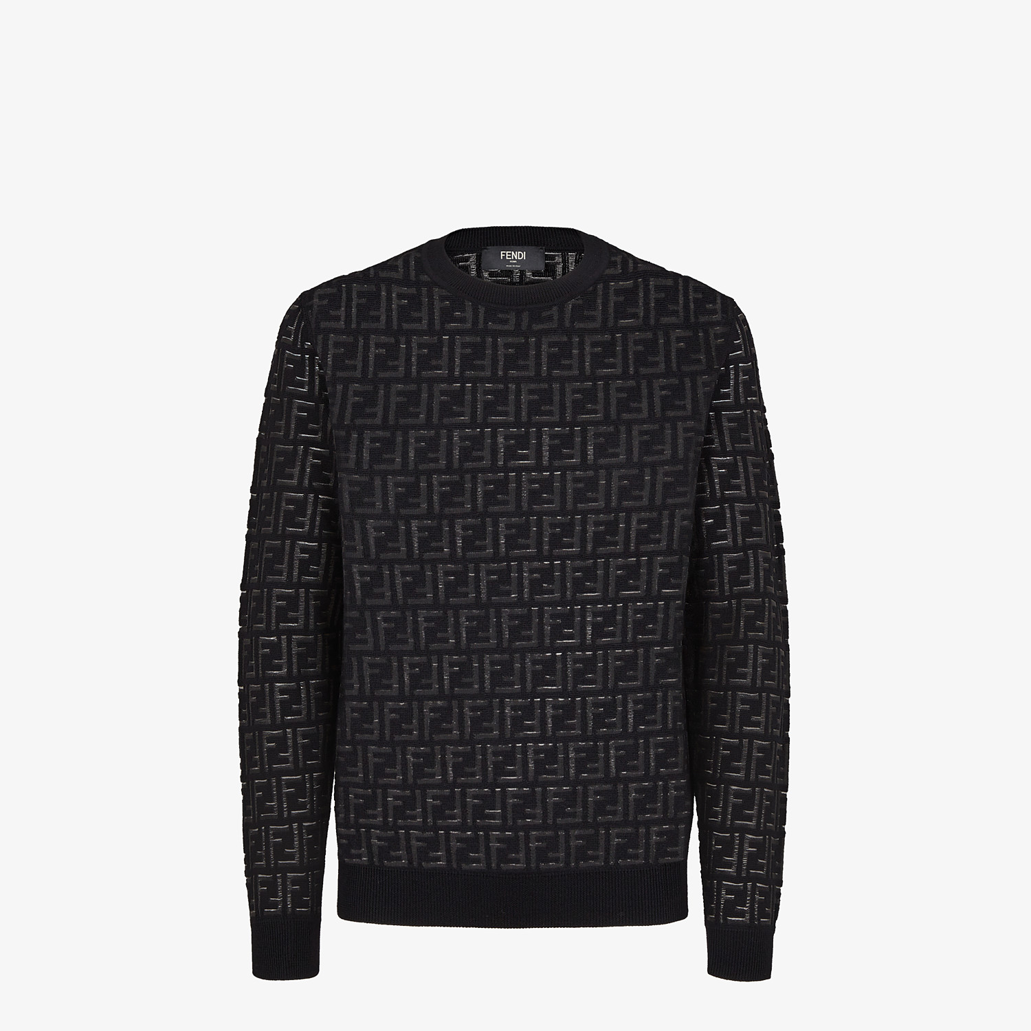 FENDI SWEATER - Sweater in black nylon and wool - view 1 detail