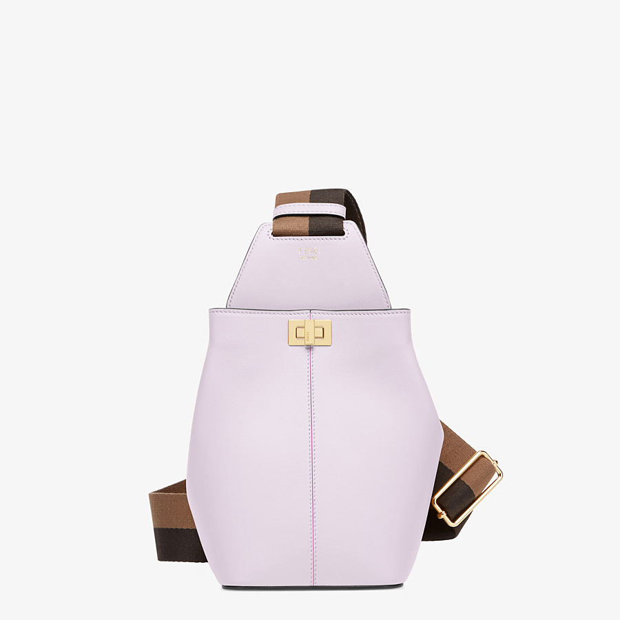 FENDI GUITAR BAG - Lilac leather mini-bag - view 1 detail