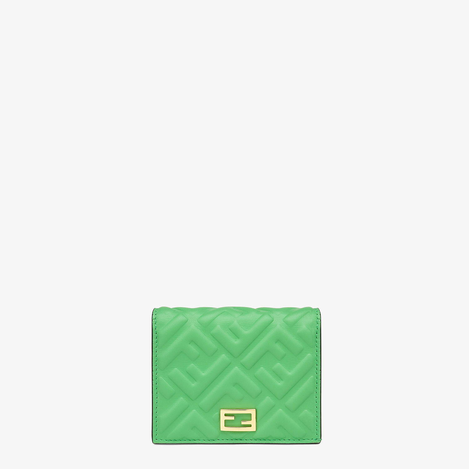 FENDI SMALL WALLET - Green nappa leather wallet - view 1 detail