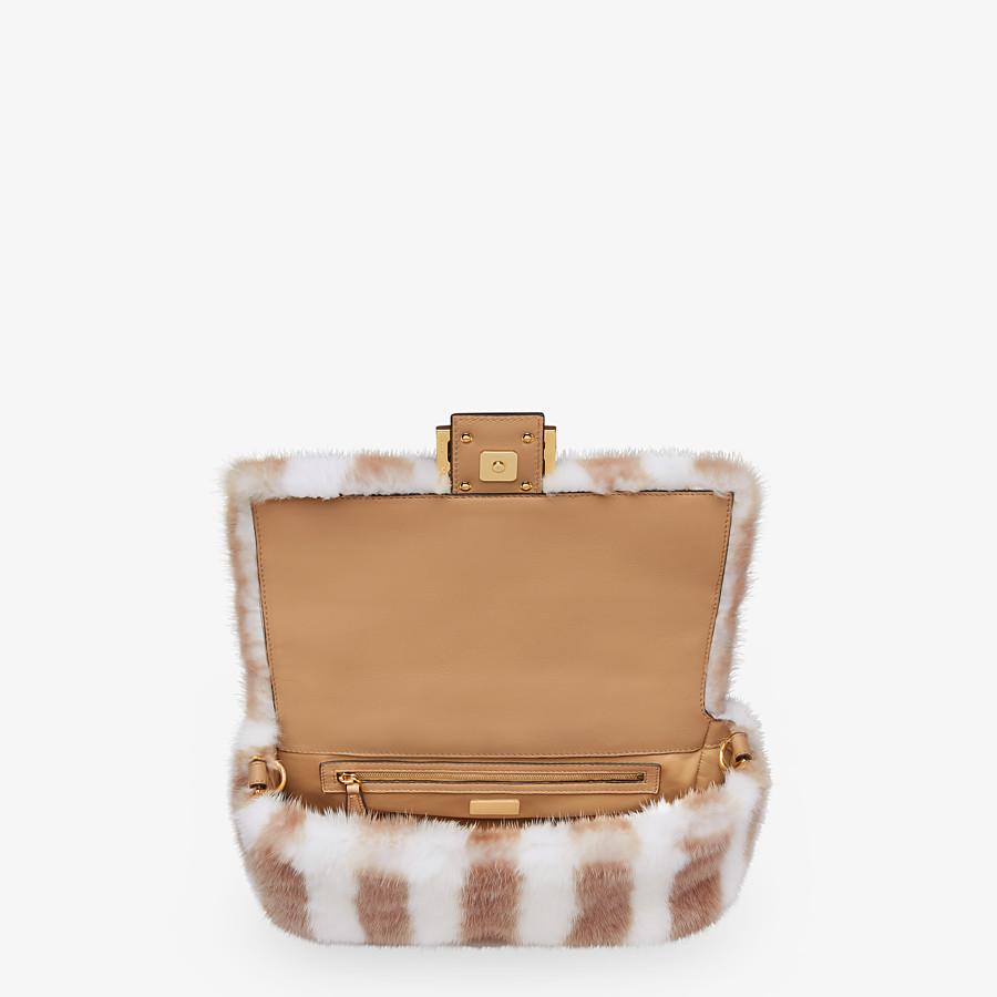 FENDI BAGUETTE - White mink bag - view 4 detail