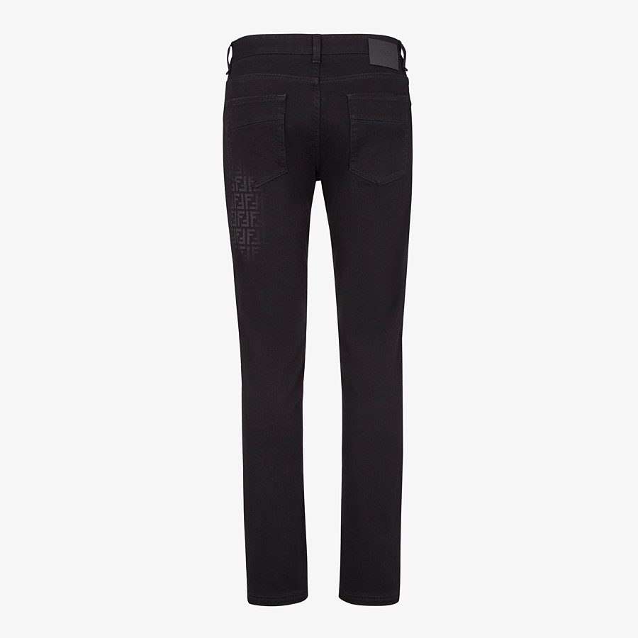 FENDI DENIM - Black denim jeans - view 2 detail