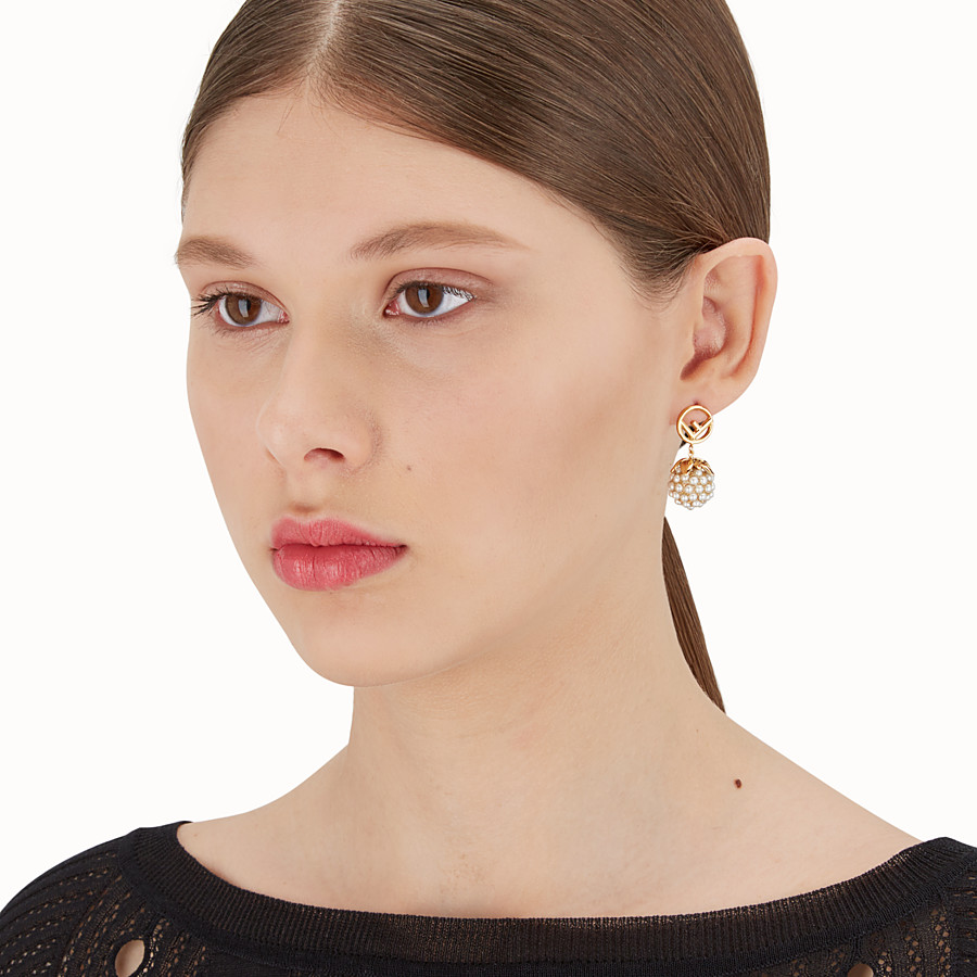 FENDI FENDI FRUIT EARRINGS - Gold colour earrings - view 2 detail