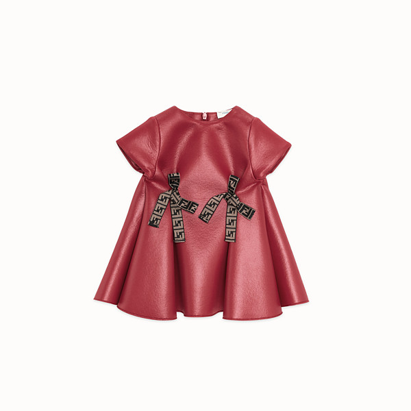 FENDI ROBE - Robe fantaisie en maille rouge et rose - view 1 small thumbnail