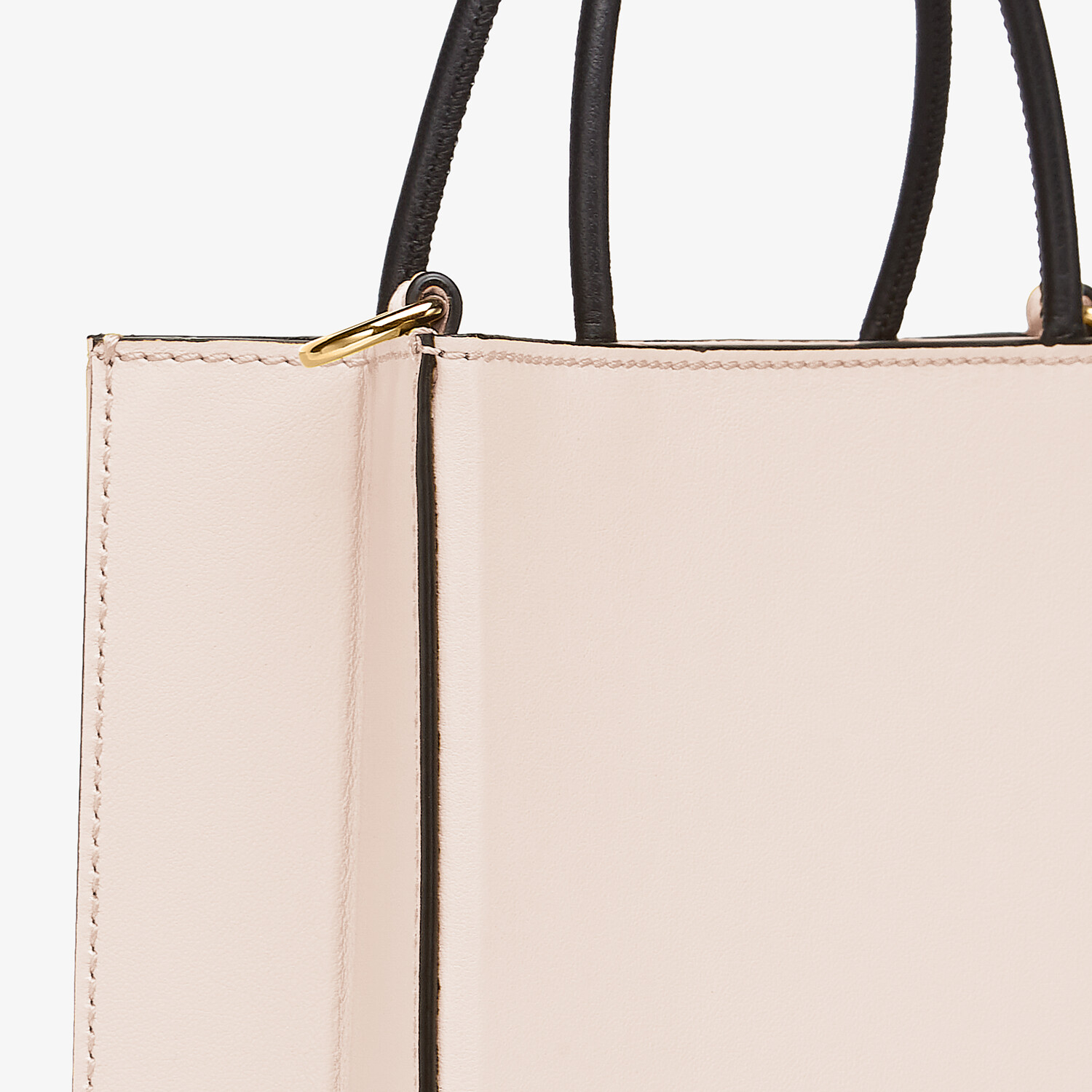 FENDI FENDI PACK SMALL SHOPPING BAG - Pink leather bag - view 6 detail