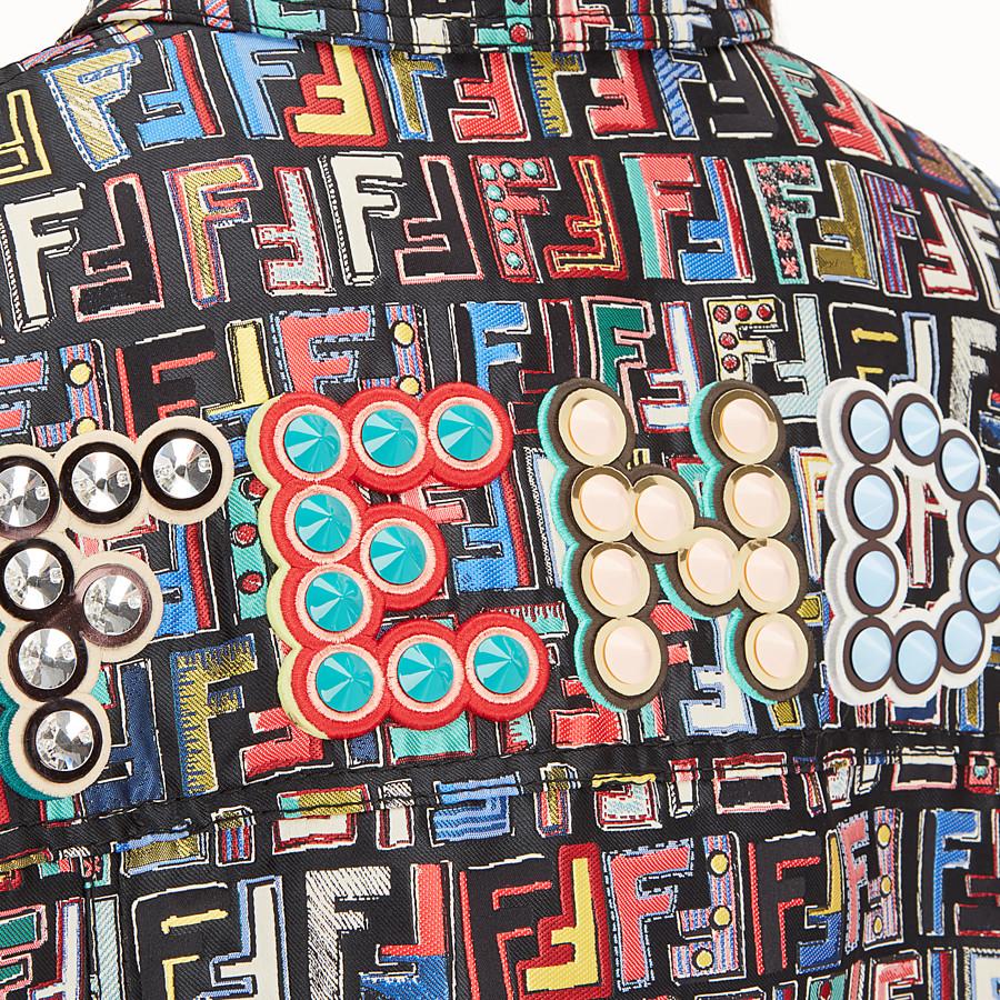 FENDI 夾克 - 拼色提花布料外套 - view 4 detail