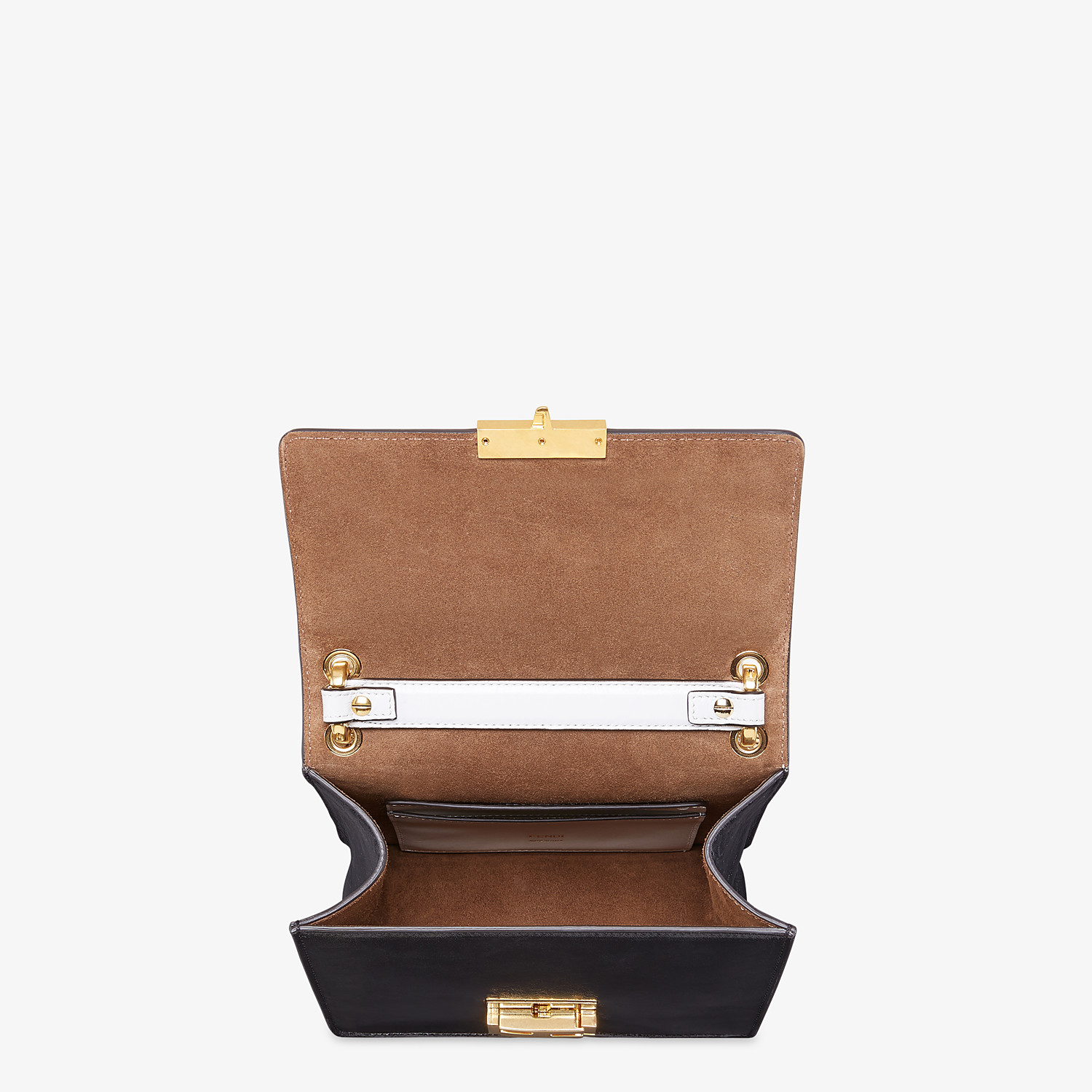 FENDI KAN U SMALL - Leather and suede minibag - view 5 detail
