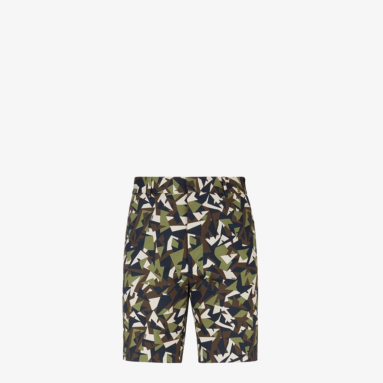 FENDI BERMUDAS - Multicolor gabardine pants - view 1 detail