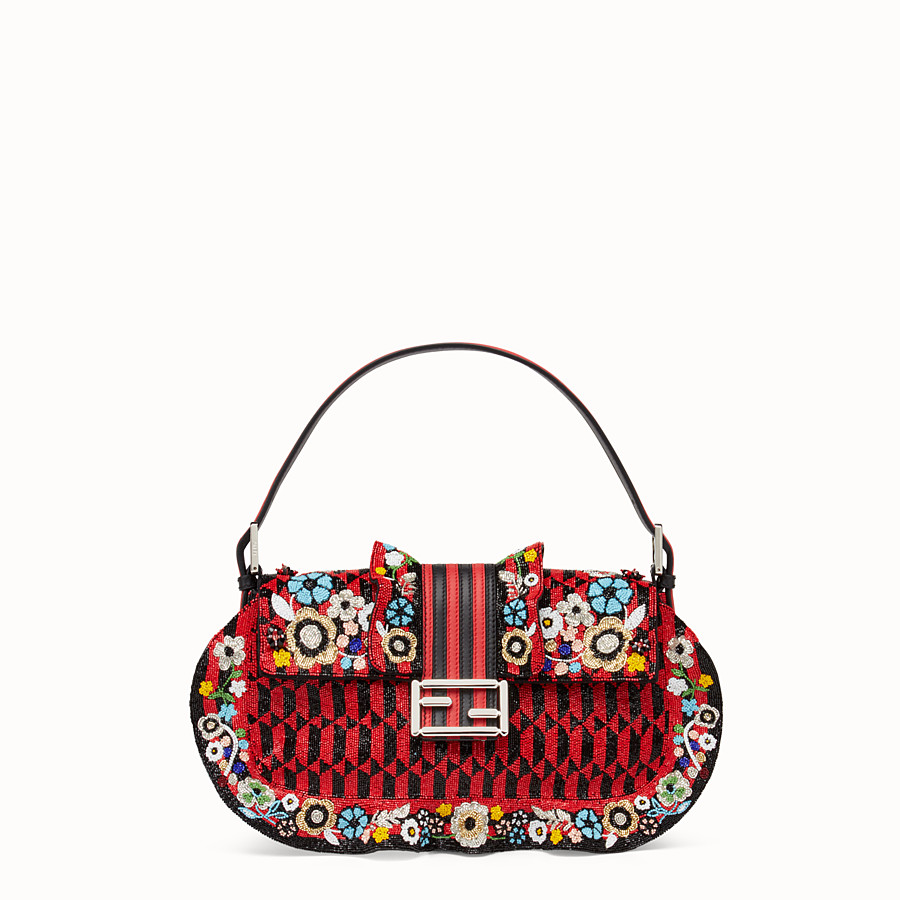 FENDI BAGUETTE - Embroidered shoulder bag with beads - view 1 detail