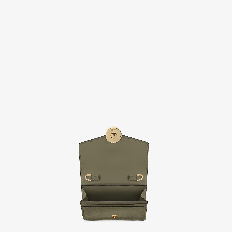 FENDI WALLET ON CHAIN - Green leather mini-bag - view 4 detail