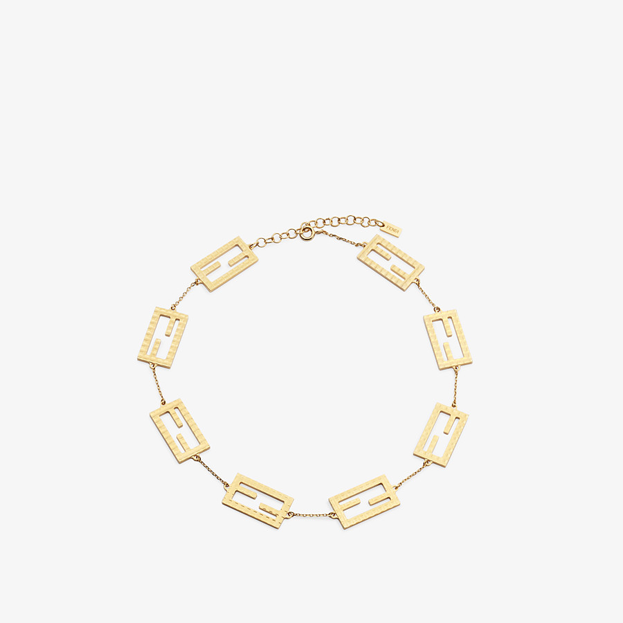 FENDI BAGUETTE NECKLACE - Gold-color necklace - view 1 detail