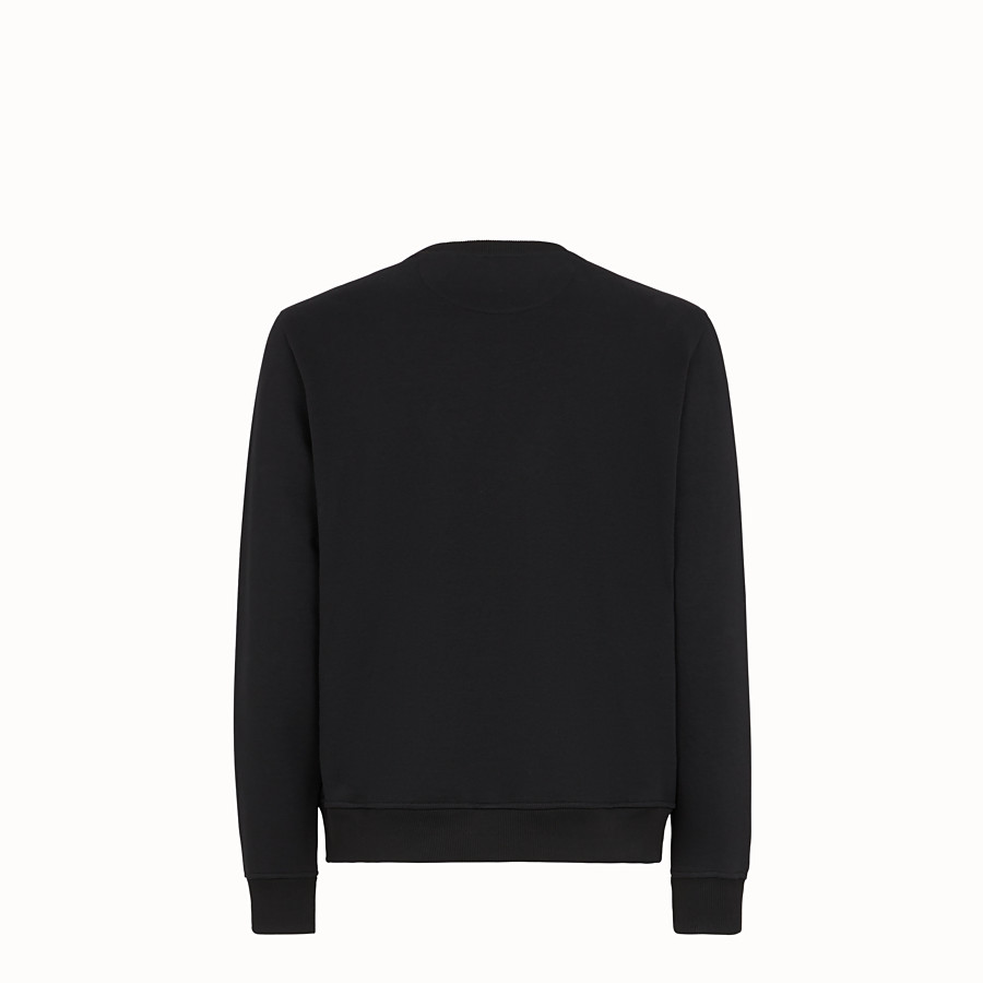 FENDI SWEATSHIRT - Black cotton jersey sweatshirt - view 2 detail