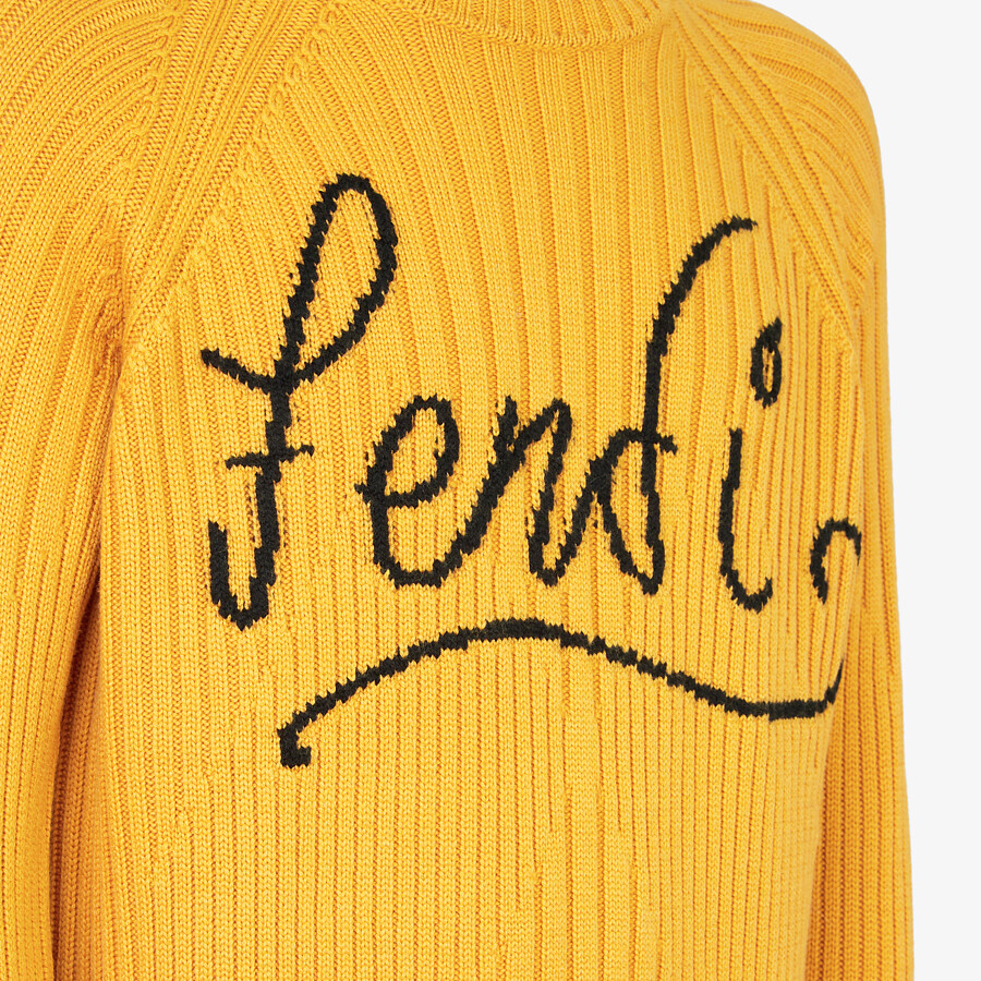FENDI SWEATER - Yellow wool jumper - view 3 detail