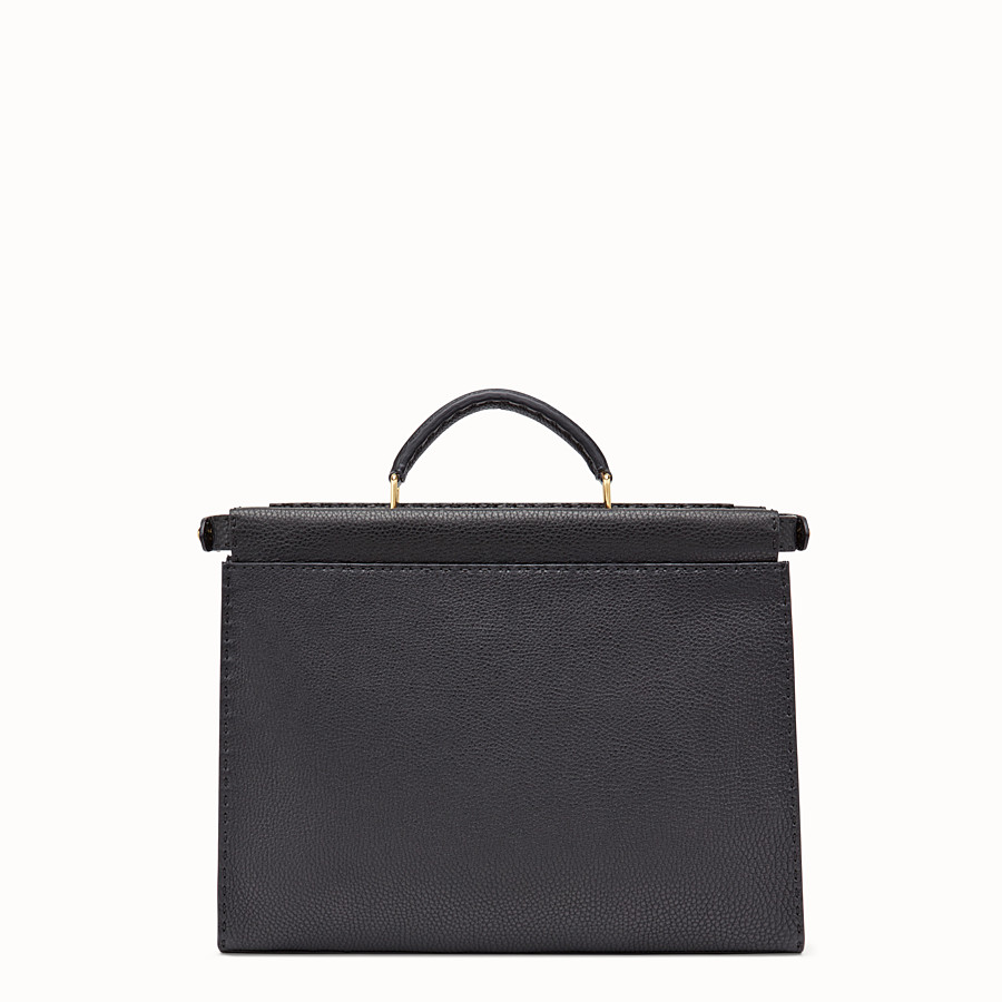 FENDI PEEKABOO FIT - Black Roman leather bag - view 3 detail