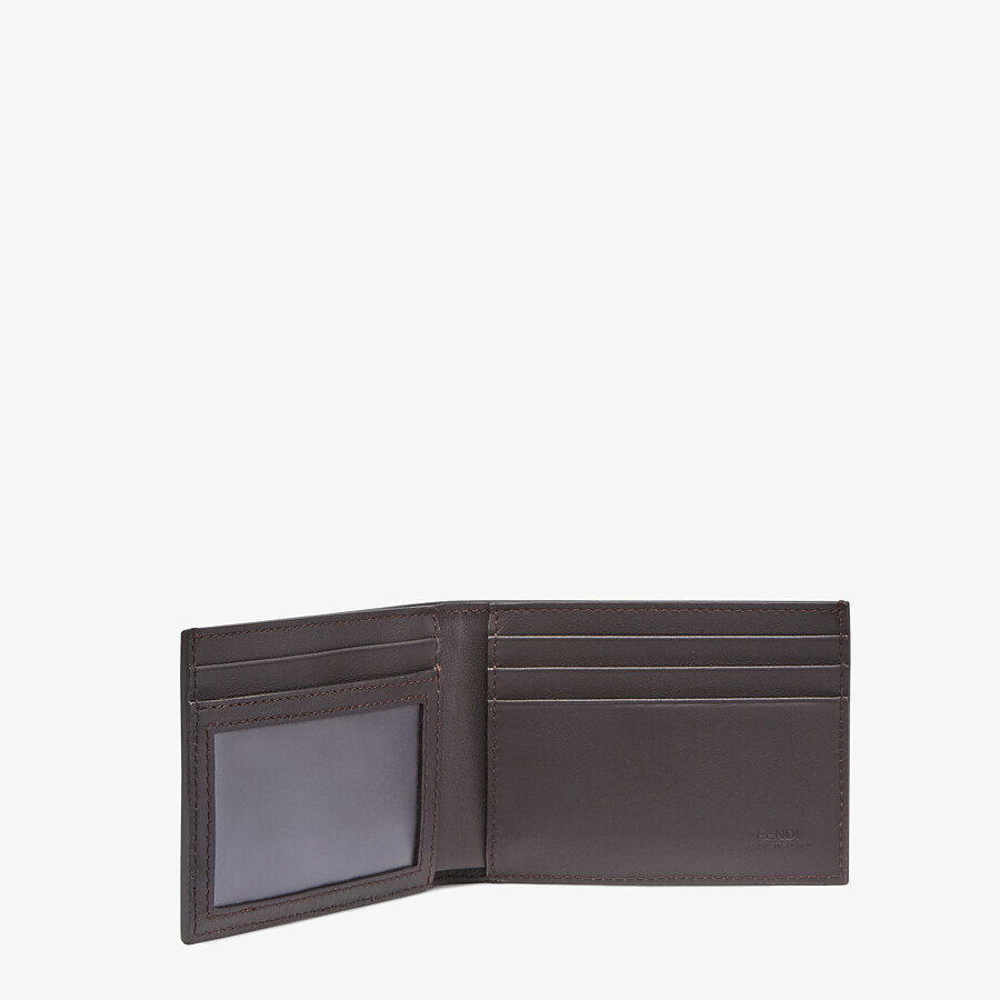 FENDI US DOLLAR WALLET - Brown fabric bi-fold - view 3 detail