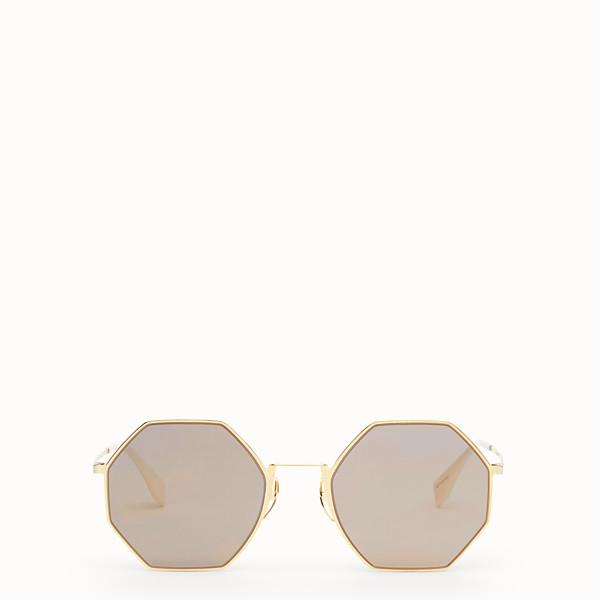 FENDI EYELINE - Gold-colour sunglasses - view 1 small thumbnail