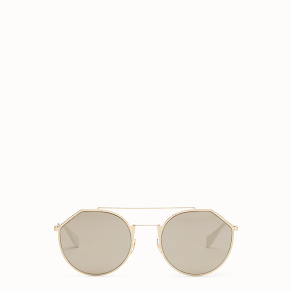 FENDI EYELINE - Sonnenbrille in Gold - view 1 small thumbnail