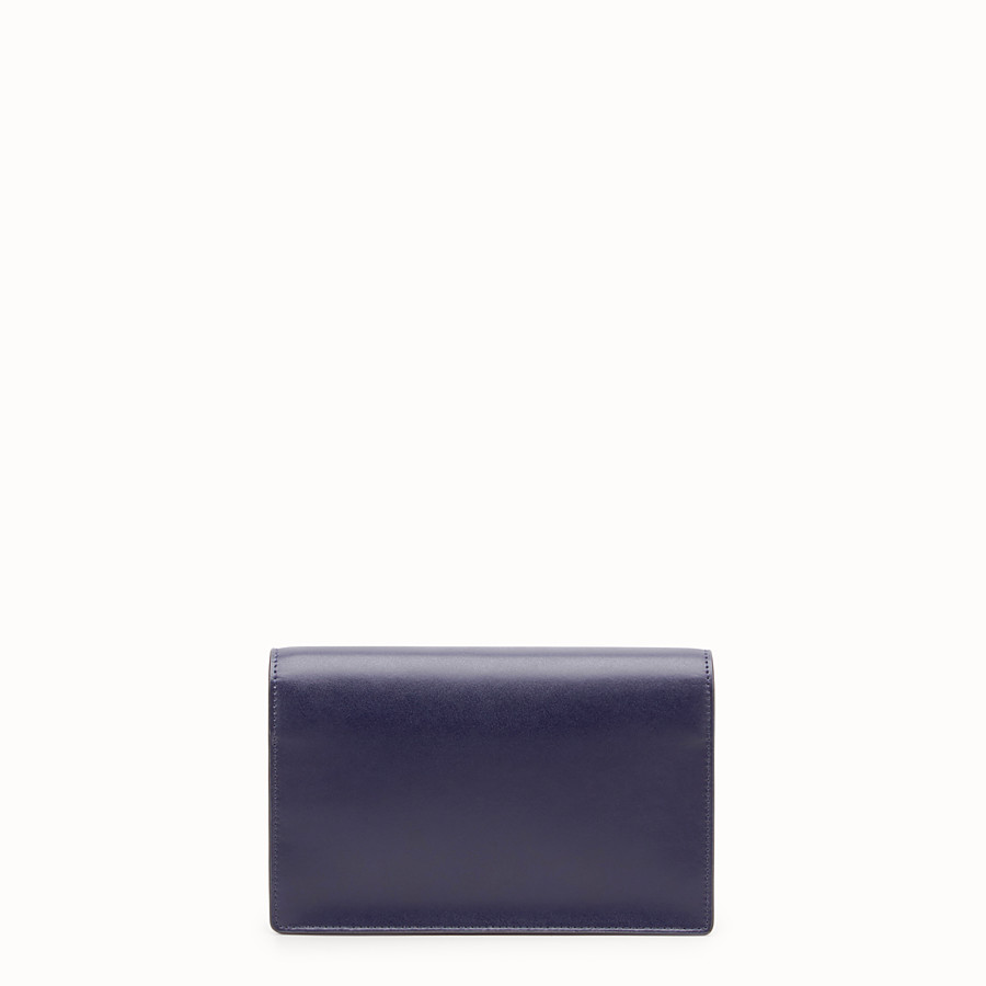 FENDI WALLET ON CHAIN - Blue leather mini-bag - view 3 detail