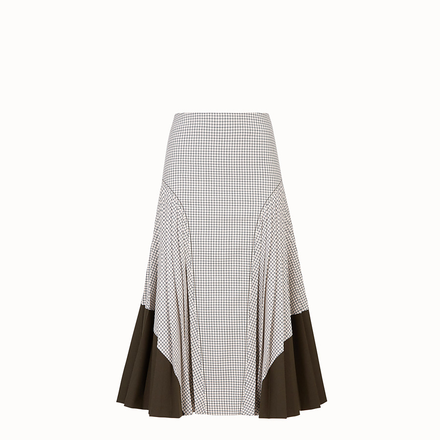 FENDI SKIRT - Green wool skirt - view 1 detail