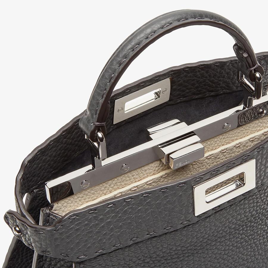 FENDI PEEKABOO I SEEU SMALL - Dark gray Selleria bag - view 5 detail