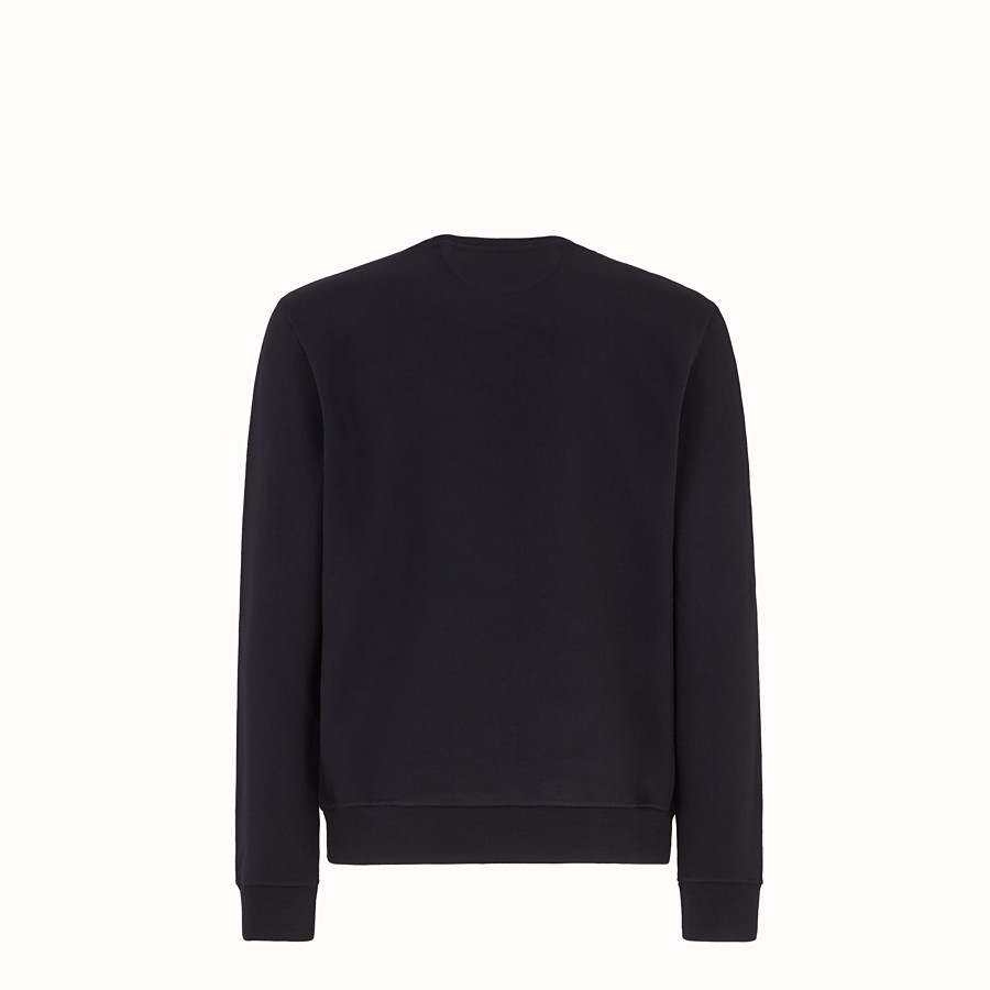 FENDI PULLOVER - Black jersey sweatshirt - view 2 detail