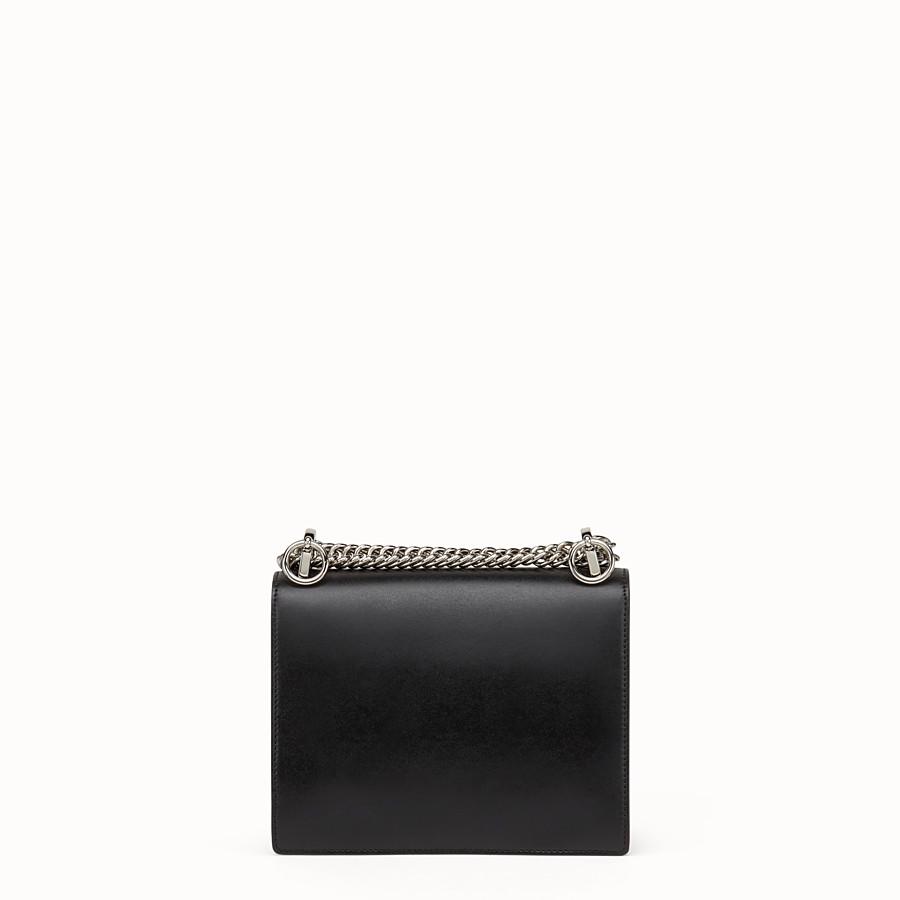 FENDI 小型款式KAN I - 黑色皮革迷你手袋 - view 3 detail