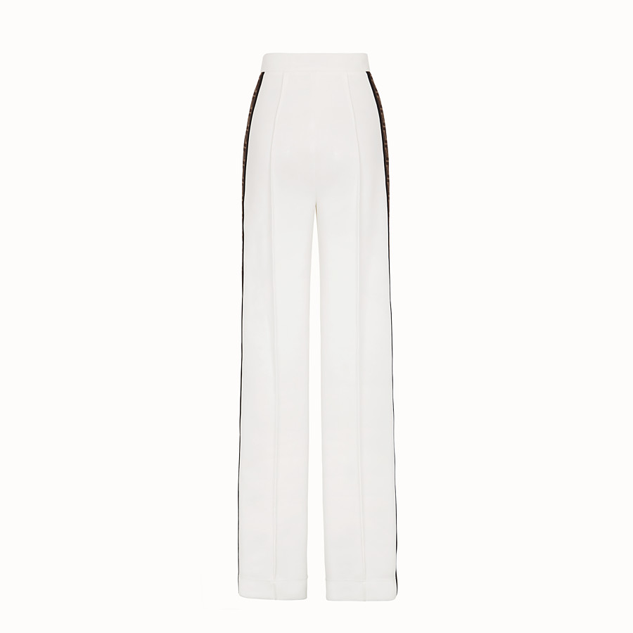 FENDI TROUSERS - White jersey trousers - view 2 detail