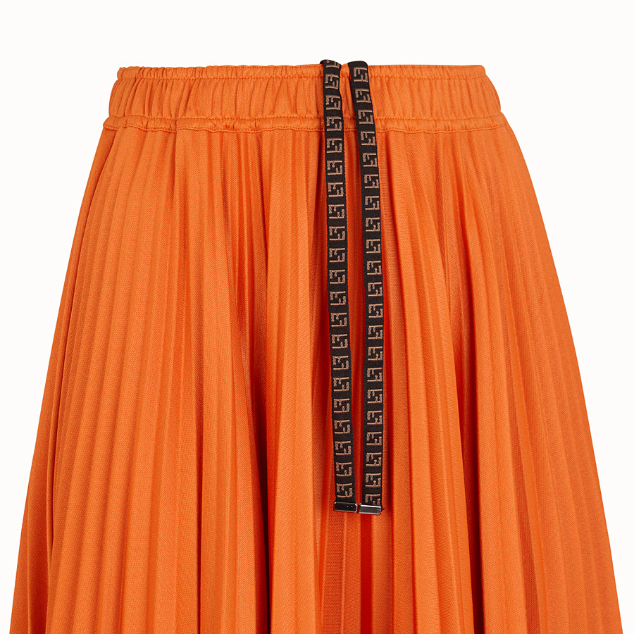 FENDI SKIRT - Orange cotton jersey skirt - view 3 detail